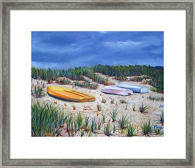3 Boats Framed Print by Paul Walsh