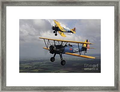 Boeing Stearman Model 75 Kaydet In U.s Framed Print by Daniel Karlsson