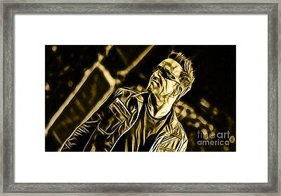 Bono U2 Collection Framed Print by Marvin Blaine
