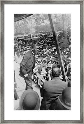 Booker T. Washington 1856-1915 Framed Print by Everett