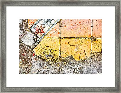 Broken Tiles Framed Print by Tom Gowanlock