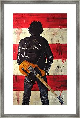 Bruce Springsteen Framed Print by Francesca Agostini