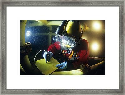 Commercial Diver Framed Print by Alexis Rosenfeld
