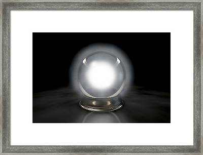 Crystal Ball Glowing Framed Print by Allan Swart
