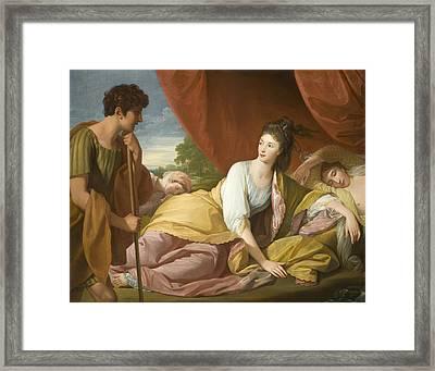 Cymon And Iphigenia Framed Print by Benjamin West