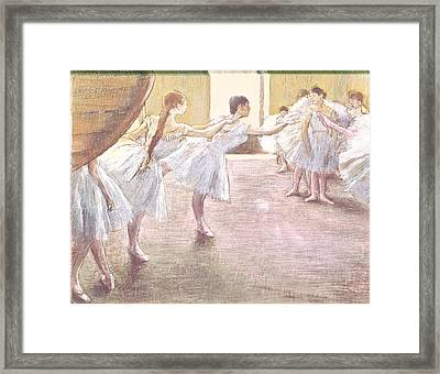 Dancers At Rehearsal Framed Print by MotionAge Designs