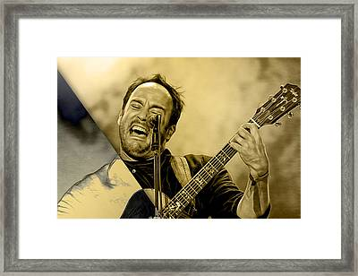 Dave Matthews Collection Framed Print by Marvin Blaine