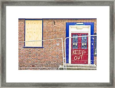 Demolition Site Framed Print by Tom Gowanlock