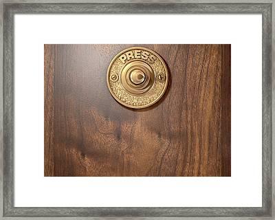 Doorbell Framed Print by Allan Swart