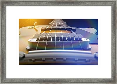 Electric Guitar Abstract Framed Print by Allan Swart