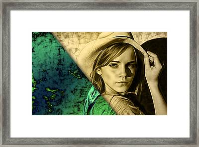 Emma Watson Collection Framed Print by Marvin Blaine