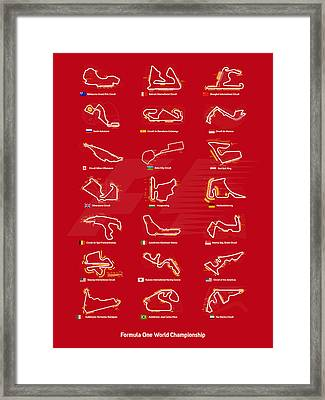 F1 Circuits Framed Print by Afterdarkness