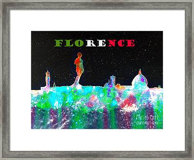 Florence Italy Skyline Framed Print by Bill Holkham