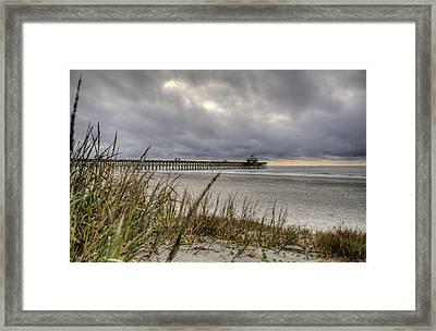 Folly Beach Pier  Framed Print by Dustin K Ryan