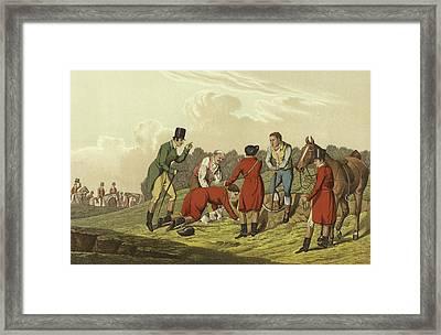 Hunting Scene Framed Print by Henry Thomas Alken