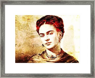 Frida Framed Print by Jose Espinoza
