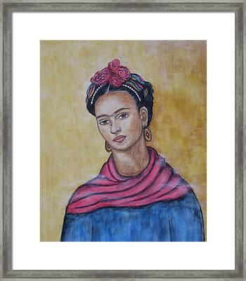 Frieda Kahlo Framed Print by Rain Ririn