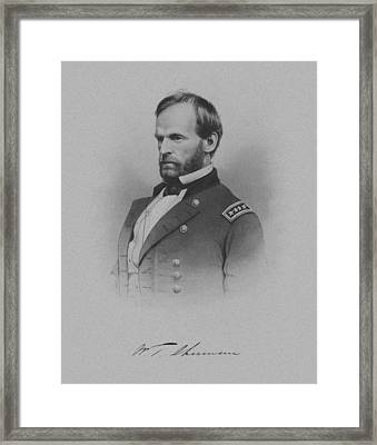 General William Tecumseh Sherman Framed Print by War Is Hell Store