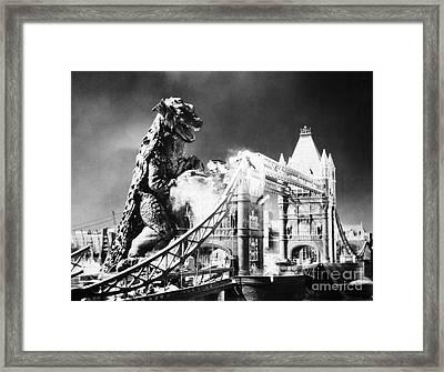 Godzilla Framed Print by Granger
