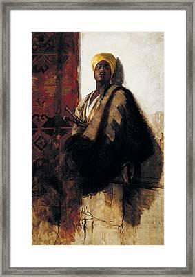 Guard Of The Harem Framed Print by Frank Duveneck