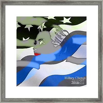 Hillary Clinton 2016 Collection Framed Print by Marvin Blaine