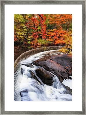 Hunts Falls Framed Print by Bryan Bzdula