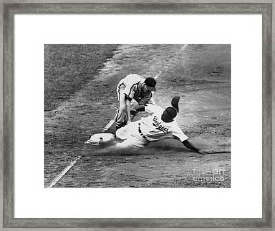 Jackie Robinson (1919-1972) Framed Print by Granger