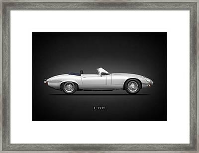 Jaguar E-type Framed Print by Mark Rogan
