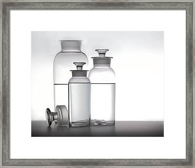 3 Jars Framed Print by Mark Wagoner
