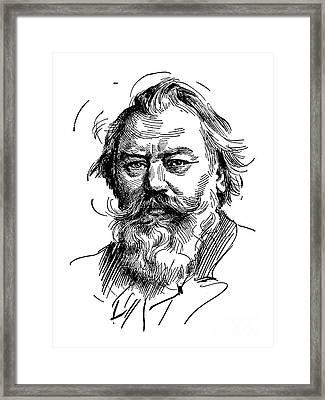 Johannes Brahms 1833-1897 Framed Print by Granger