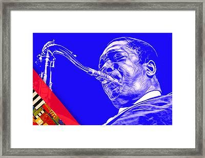 John Coltrane Collection Framed Print by Marvin Blaine