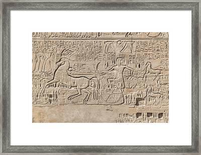 Karnak Temple - Egypt Framed Print by Joana Kruse