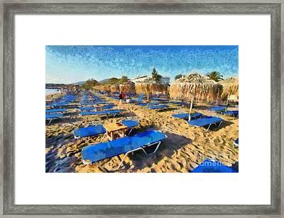 Kavouri Beach Framed Print by George Atsametakis