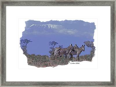 Kilimanjaro Framed Print by Larry Linton