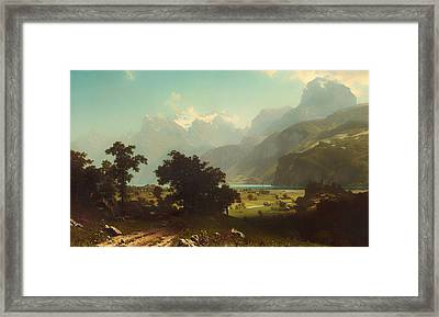 Lake Lucerne Framed Print by Mountain Dreams