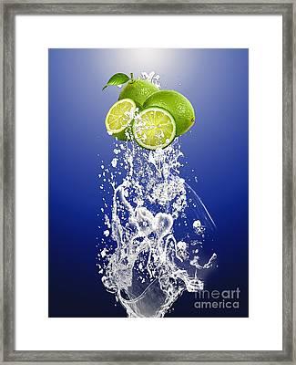 Lime Splash Framed Print by Marvin Blaine
