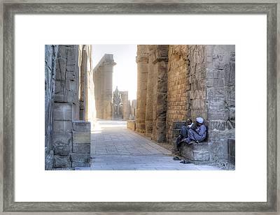 Luxor Temple - Egypt Framed Print by Joana Kruse
