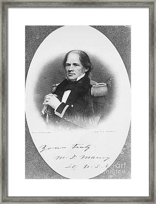 Matthew Fontaine Maury Framed Print by Granger