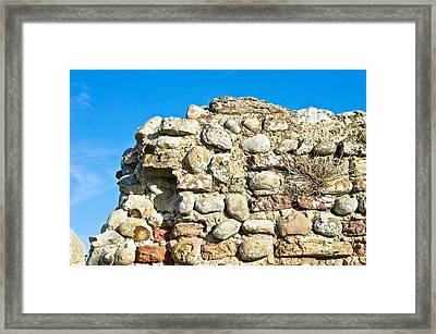 Medieval Wall Framed Print by Tom Gowanlock