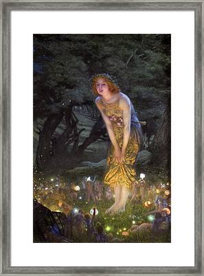 Midsummer Eve Framed Print by Edward Robert Hughes