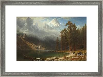 Mount Corcoran Framed Print by Albert Bierstadt