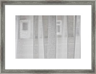 Net Curtain Framed Print by Tom Gowanlock