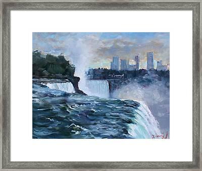 Niagara Falls Framed Print by Ylli Haruni