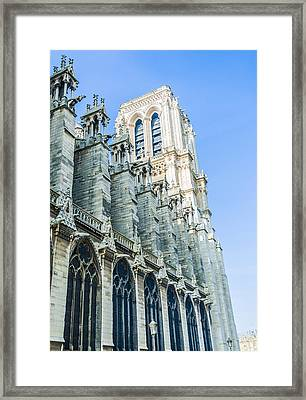 Notre Dame Cathedral Bell Tower Framed Print by Nila Newsom