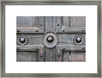 Old Door Detail Framed Print by Elena Elisseeva