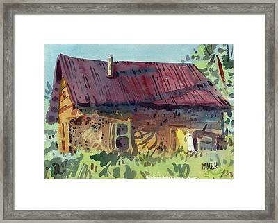 Outbuilding Framed Print by Donald Maier
