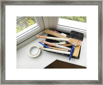 Paint Brushes Framed Print by Tom Gowanlock