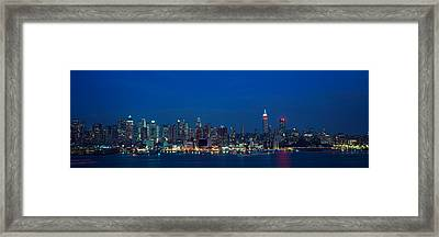 Panoramic View Of Empire State Building Framed Print by Panoramic Images