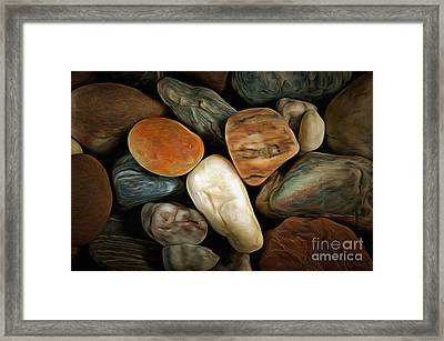 Pebble Stones Framed Print by Michal Boubin