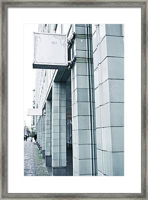Pillars Framed Print by Tom Gowanlock